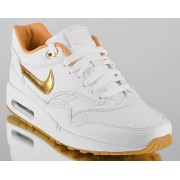 NIKE AIR MAX 1 FB WOVEN METALLIC GOLD
